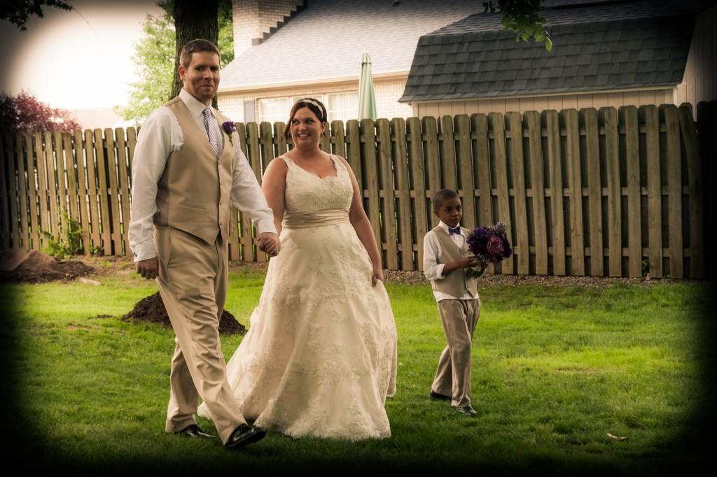 Mr. & Mrs. Stark walking in