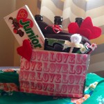 Valentines day giftbasket