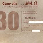Dirty 30 – Scott's 30th birthday