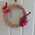 the one with a new fall wreath