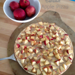 the one with a caramel apple pizza
