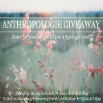 the one with a $300 anthropology giveaway