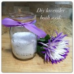 the one with diy lavender foot soak