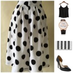 5 pieces 1 outfit: polka dots