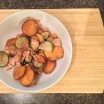 the one with sweet potato buffalo chicken cassarole (paleo)