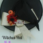 the one with a witches hat Halloween wreath