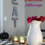 the one with a Halloween tablescape