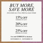 the one with shopbop's Thanksgiving sale!