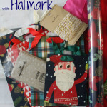 the one with Christmas wrapping and hallmark