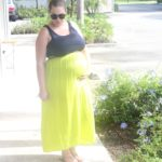 5 pieces 1 outfit: lime maxi skirt