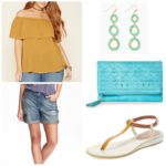 5 pieces 1 outfit: Mustard & turquoise